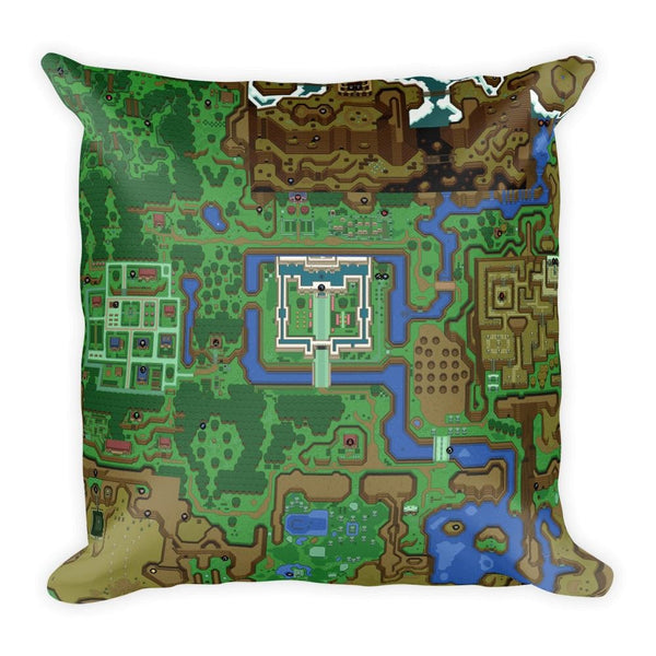 Zelda A Link To The Past Dark Light World 18 x 18 Square Throw Pillow - Pillow - Nurdtyme