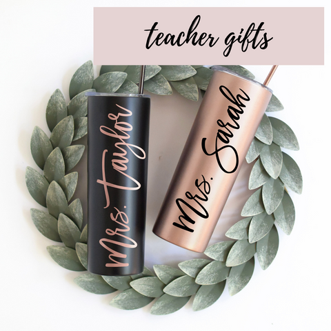get a gift for your kids teacher that she will actually like. personalize with Mrs.