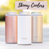 personalized skinny can coolers that are personalized for your bridal party