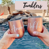 personalized tumblers that are stainless steel and custom