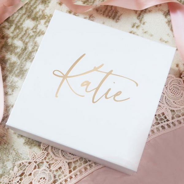 Personalized bridesmaid gift box for bridesmaid gifts