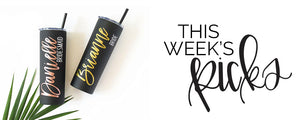This weeks personalized item picks