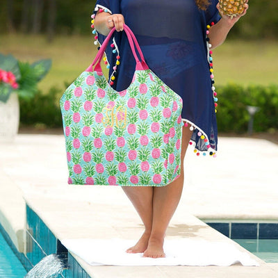 Pineapple Beach Tote Bag