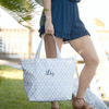 Natural Mosaic Tote Bag in Gray