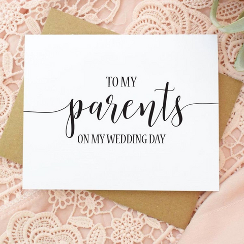 Personalized Wedding Cards for Parents