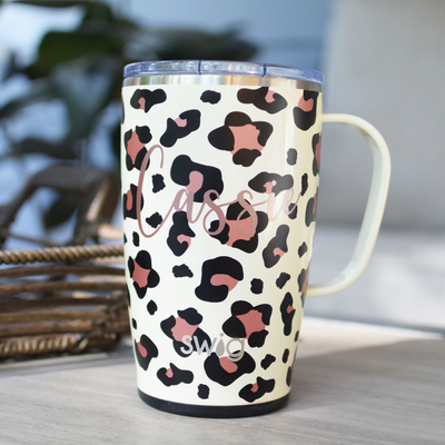 luxy leopard SWIG Personalized Coffee Mug