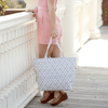 Lady with Natural Mosaic Tote Bag in Gray