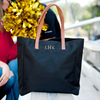 Embroidered Personalized Tote Bag in black