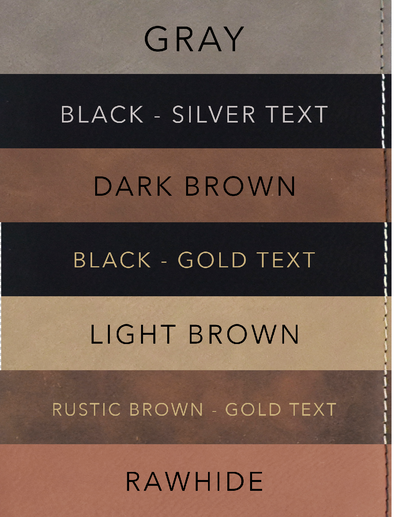 Color options for Groomsmen Bottle Opener