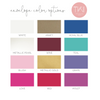 envelope color options of Personalized Floral Stationery Set envelope color options