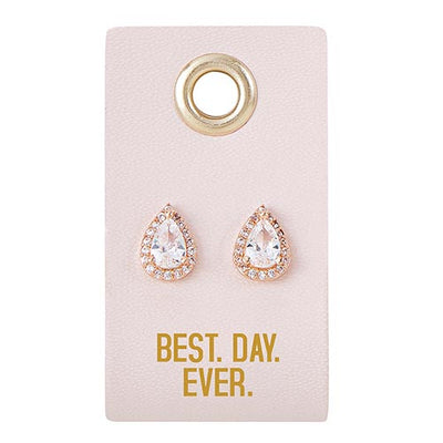 Best Day Ever Earrings Gift for the Bride
