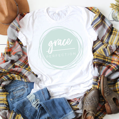 Grace Over Perfection Graphic Tee, T Shirt, thewhiteinvite, The White Invite - The White Invite