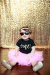 LIVE SALE 1st Birthday Outfit Girl, Pink Gold Tutu Girl First Birthday Outfit, Birthday Shirt, Pink Birthday Tutu, Cake Smash Outfit, Tutu, thewhiteinvite, The White Invite - The White Invite