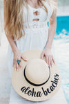 Aloha Beaches Embroidered Floppy Hat bridesmaid gift