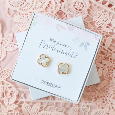 Will You Be My Bridesmaid Gift Earring Set perfect for Bridesmaid Proposal Box