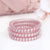 Bridal Party Rose Gold Spiral Coil Hair Ties - Set of 3