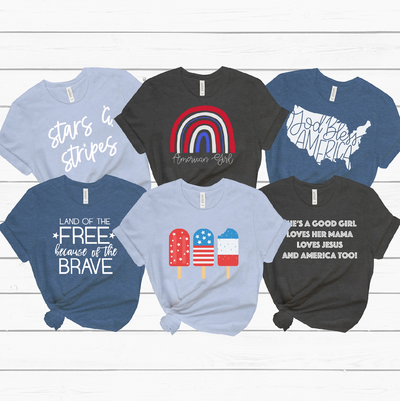 6 Designs for Patriotic 4th of July Shirt