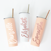 Personalized Skinny Tumbler Blush