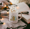 christmas mug with Merry Christmas Trees White Ceramic Mug design