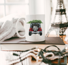 christmas mug with Christmas Truck White Ceramic Mug design
