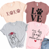Dog Valentine Women's Graphic Tee shirt designs
