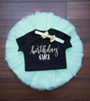 LIVE SALE First Birthday Outfit, Birthday Girl Outfit, 1st Birthday Girl Outfit Mint Gold, Birthday Shirt, Mint Birthday Tutu, Cake Smash Outfit, Tutu, thewhiteinvite, The White Invite - The White Invite