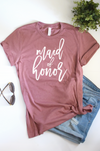 Maid of Honor Bridal Party Bachelorette Shirt in Mauve perfect for bridesmaid gifts bridal shower bachelorette party