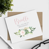 Succulent Floral Will You Be My Bridesmaid Cards with Name perfect for bridesmaid proposal