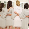Jersey Lace Bridesmaid and Bridal Robes perfect for bachelorette party back