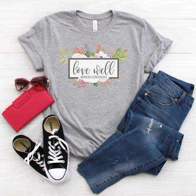 Love Well Women's Conference Women's Graphic Tee - FREE SHIPPING, T Shirt, thewhiteinvite, The White Invite - The White Invite