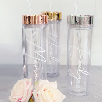 Acrylic Personalized Rose Gold Tumbler
