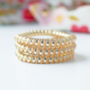 Bridal Party Gold Spiral Coil Hair Ties - Set of 3