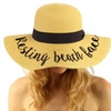 Resting Beach Face Embroidered Floppy Hat