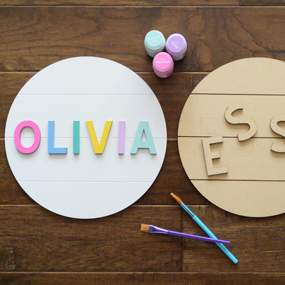 Personalized Round Name Sign DIY Kit