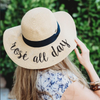 Rosé All Day Embroidered Floppy Hat