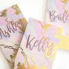 Personalized Pastel Colored Journal in Gold Foil
