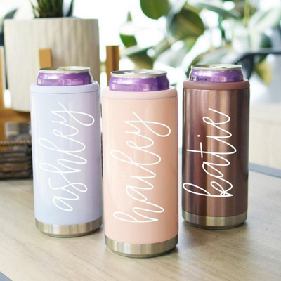 Bachelorette Party Gift slim can coolers