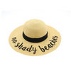 No Shady Beaches Embroidered Floppy Hat