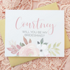 Floral Will You Be My Bridesmaid Cards with Name perfect for bridal shower bridesmaid gifts