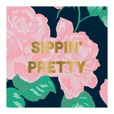 Sippin' Pretty Beverage Napkins perfect for bachelorette party
