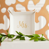 Creme Mrs. Trinket Tray perfect for bride gift front
