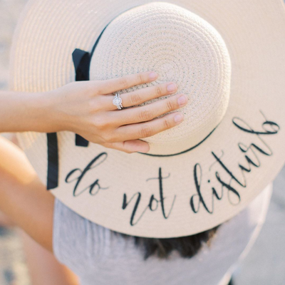 Personalized Living My Best Life (or Your Choice of Wording) Beach Floppy Hat top
