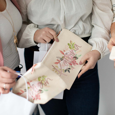 Floral Bridesmaid Makeup Bag