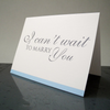 I Can't Wait to Marry You Card Gift for Bride or Groom