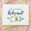 Succulent Floral Will You Be My Bridesmaid Cards Wedding Cards perfect for bridesmaid gifts