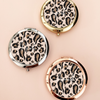 Personalized Leopard Compact Mirrors