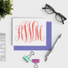 Custom Monogram Notecards  Personalized Notecard Set