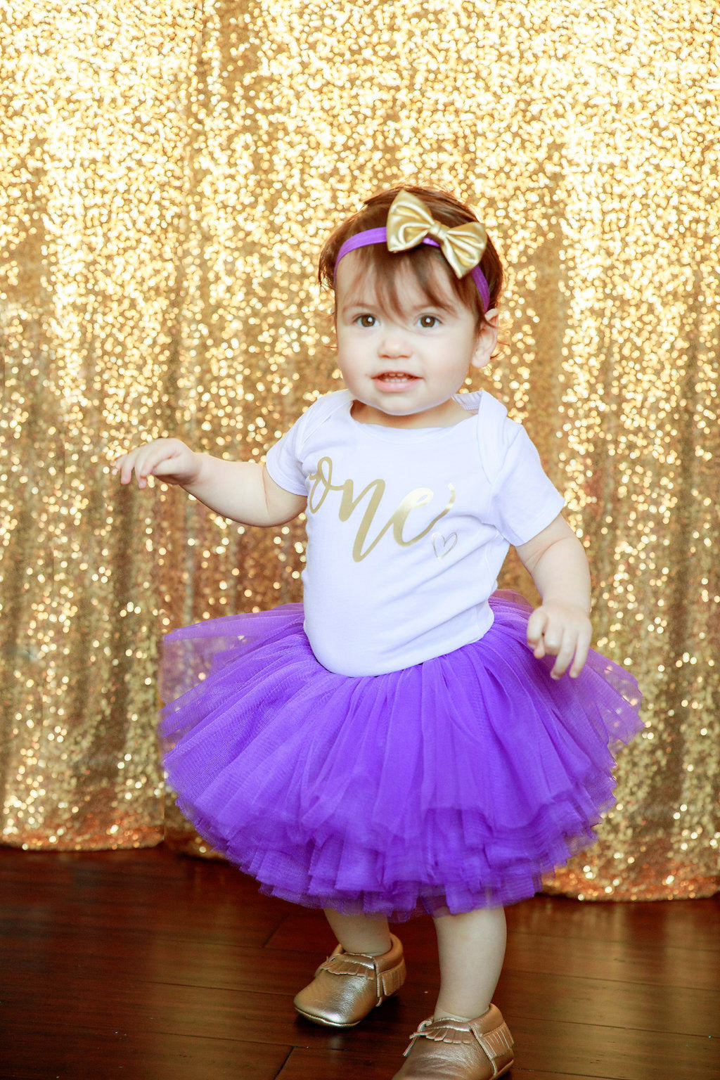 268be287fbe7 LIVE SALE Girl 1st Birthday Outfit, Purple Gold Tutu Girl First Birthday  Outfit, Birthday