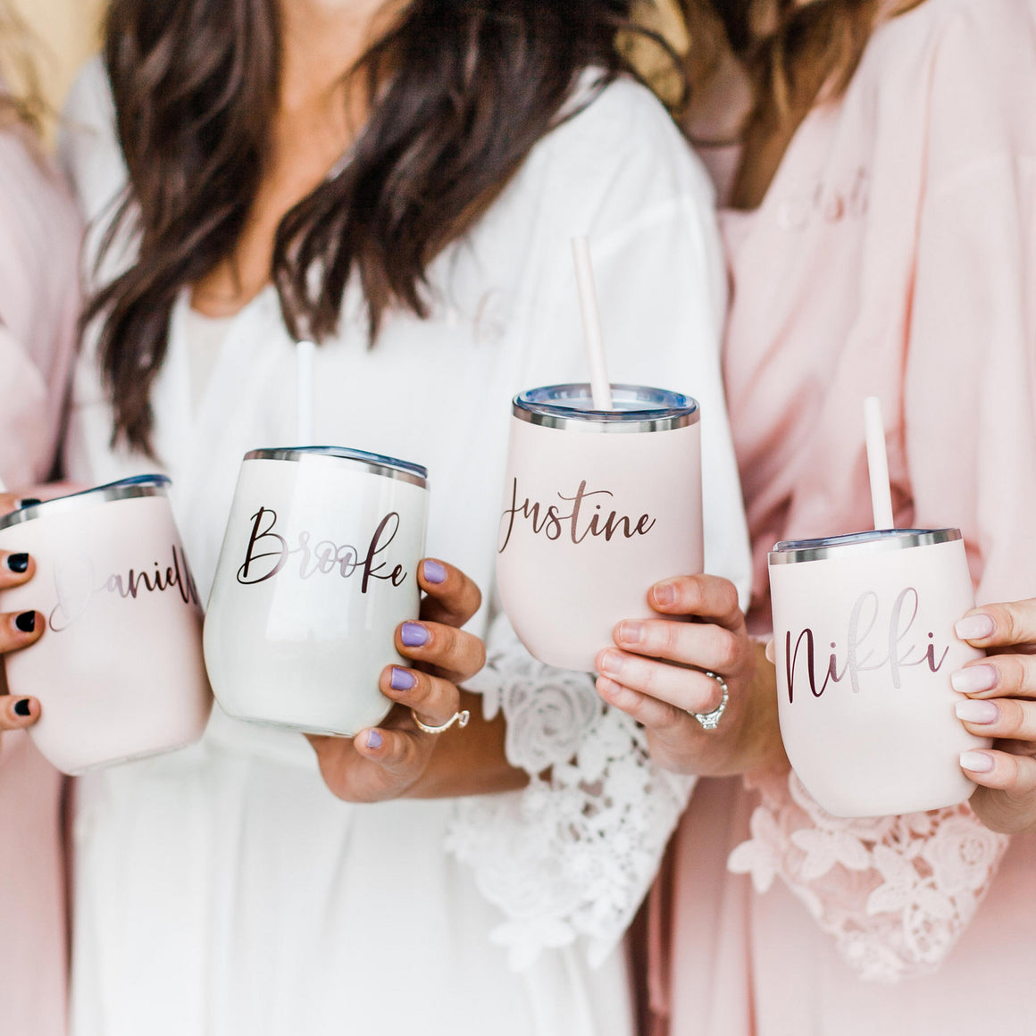 Wedding Tumbler Custom Logo or Text Tumbler Personalized WINE Tumbler Party Favors Gifts for Women Tumbler with Lid Gift Ideas