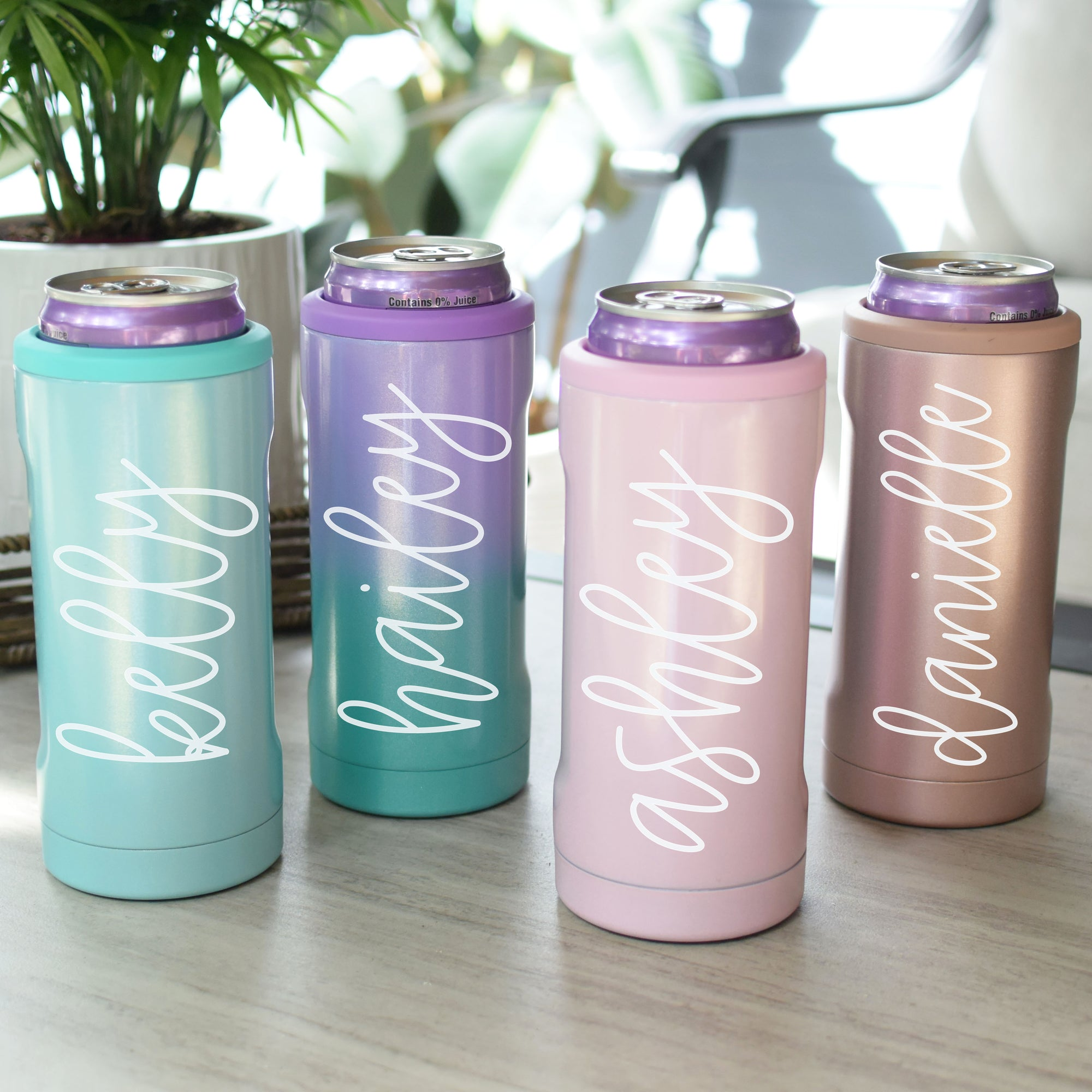 BrüMate Hopsulator Slim | Personalized Skinny Can Coolers - The White Invite